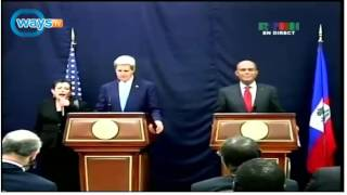 Video - John Kerry in Port-au-Prince