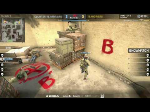 CS:GO - Showmatch [Dust2] Match 2 - ESL Pro League Season 4 - EU Matchday 20