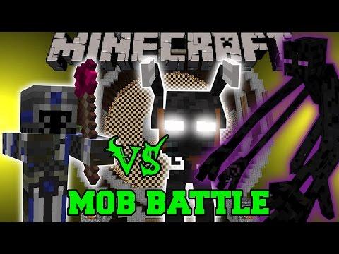 DARK MAGE VS MUTANT ENDERMAN MORBID HARVESTER Minecraft Mob Battles Mods