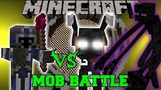 DARK MAGE VS MUTANT ENDERMAN & MORBID HARVESTER - Minecraft Mob Battles - Mods