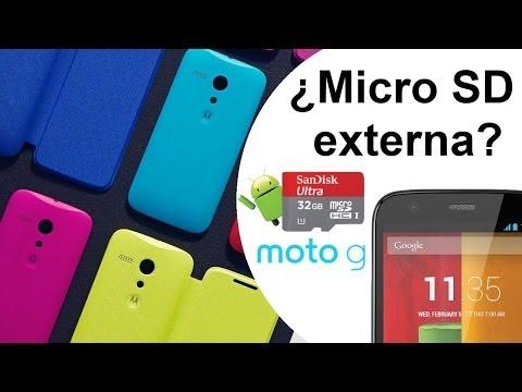 Motorola Moto G - ¿Cómo usar una tarjeta micro sd externa? Review HD