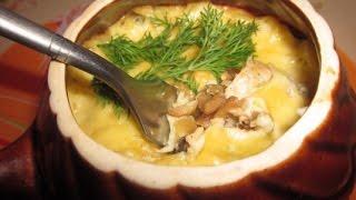 Жюльен с курицей и грибами
