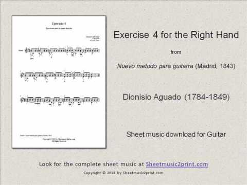 Dionisio Aguado - Exercise 4 In G Major