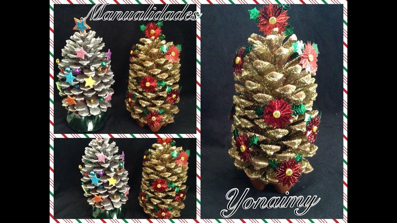 Arbolito de navidad hecho con una pi ita manualidad para - Como hacer manualidades de navidad para ninos ...