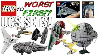 LEGO Worst To First   ALL LEGO Star Wars UCS SETS!