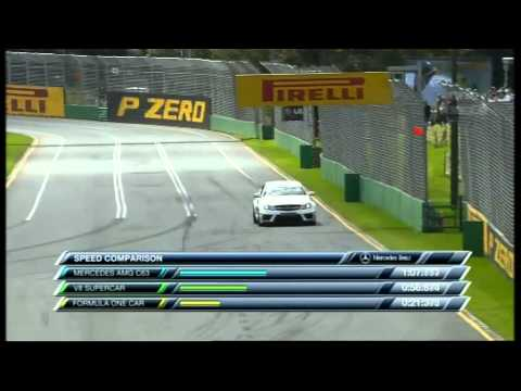2012 F1 Australian GP - Mercedes Benz C63 Black vs Triple Eight Racing V8 Supercar vs McLaren MP4-26