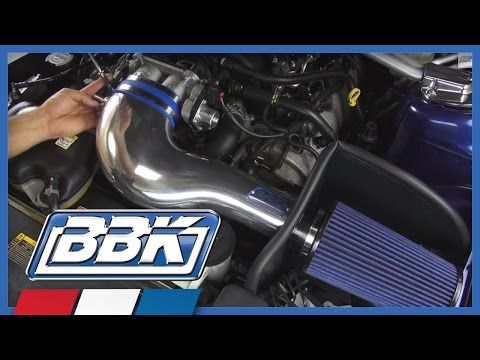 Mustang Cold Air Intake Kit (2005-2009 Mustang GT) Install & Test BBK 17360 Polished