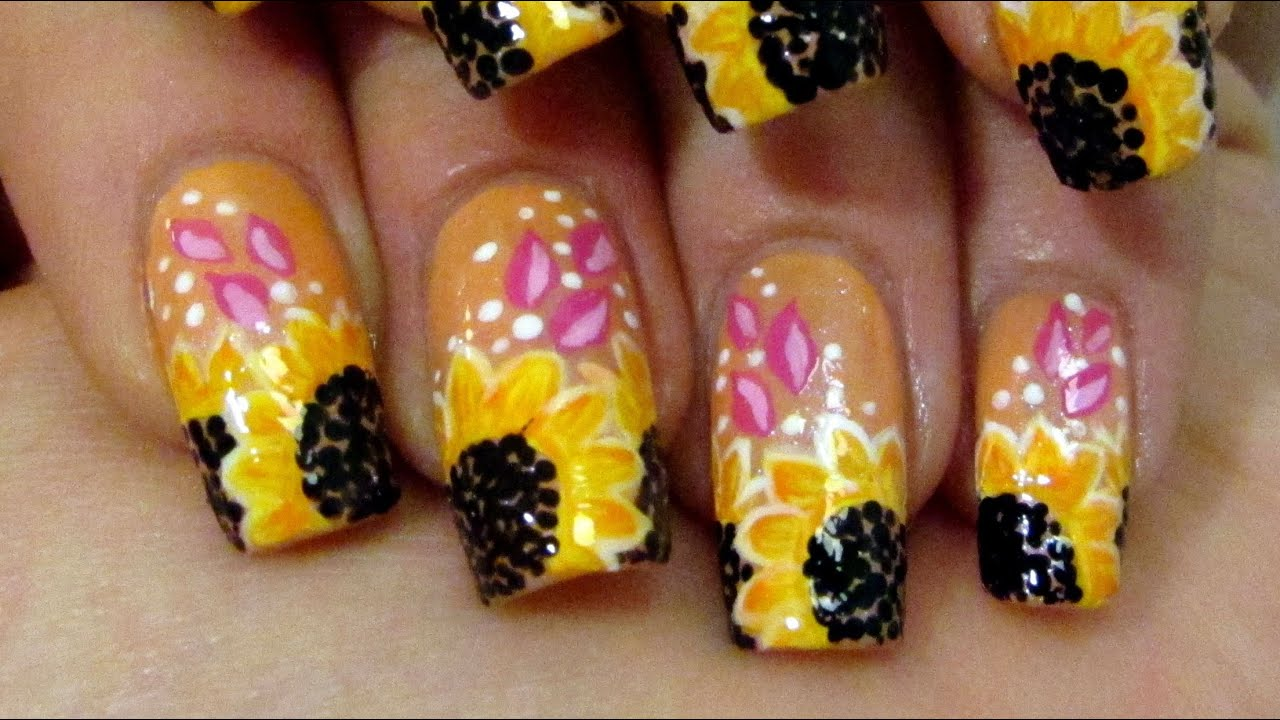 Yellow Nail Art Tutorial