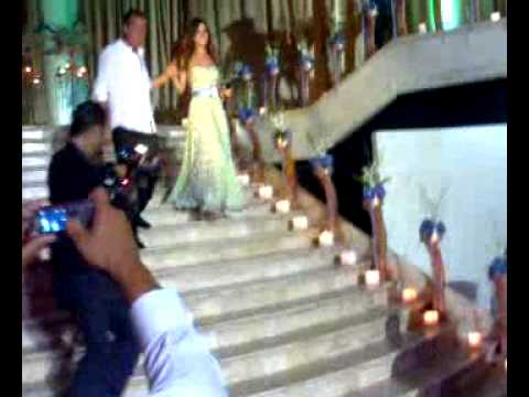 Exclusive Nancy Ajram In Melhem Zein Wedding 2008 عرس ملحم زين الاسطوري حصري video