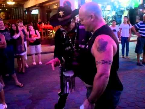 Cowboy Street Magician – Walking Street in Pattaya, Thailand