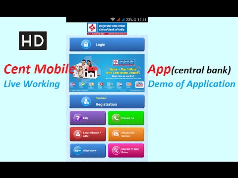 Cent mobile app, Central bank of india(cbi) mobile banking, internet banking application for android