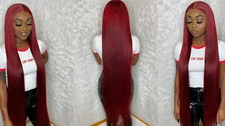 40 INCH WIG 🔥 | Red Hair Color ❤️ | West Kiss Hair