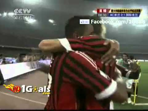 Price Boateng Kung Fu Karate Kick Celebration After Scored Goal   AC Milan 2 1