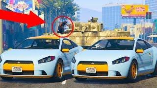 GTA 5 Online - CAR SWITCH TROLLING | MUGGER TANK PRANK! (GTA V Online)