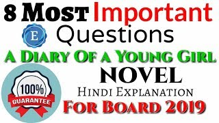 Important Questions of The Diary Of a Young Girl Novel | Class 10| Summary| CBSE| In Hindi