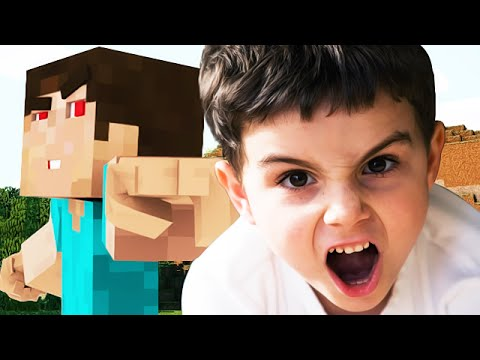 CURSING KID GETS TROLLED ON MINECRAFT - (Minecraft Trolling)