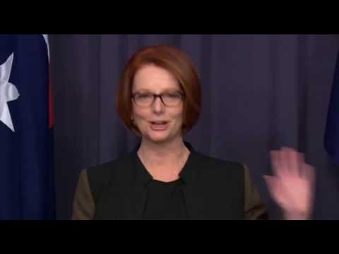 Julia Gillard press conference
