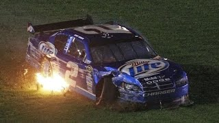 Kurt Busch Hard Crash 2009 NASCAR Sprint Cup Atlanta
