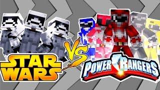 POWER RANGERS VS STAR WARS - TEAM POWER RANGERS - Minecraft Challenge