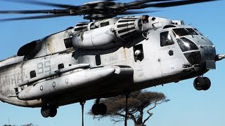 THE MOST POWERFUL Helicopter of the US Military the CH-53 Military Transport Helicopter