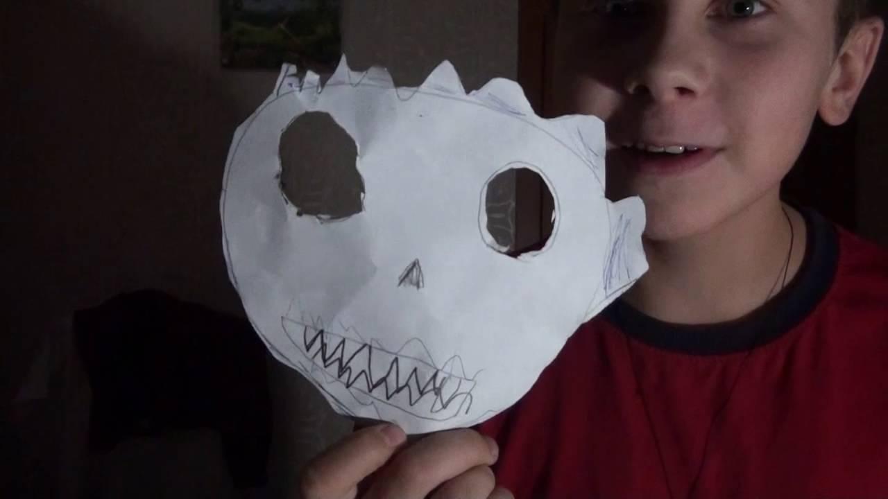 Как сделать из бумаги легкую маску 998