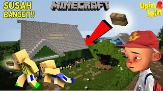 FIND THE BUTTON UPIN IPIN BUATAN ANAK SD :V - Minecraft Lucu
