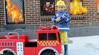 Fireman Sam And His Fire Engine Truck Saves Iron Man From His Burning House Ckn Toys