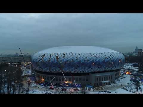 4К drone - процесс строительства стадиона Динамо (ВТБ Арена Парк)