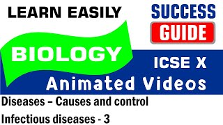 ICSE IX BIOLOGY Diseases – Causes and control-5- Infectious diseases - 3  by Success Guide