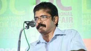 BALACHANDRAN CHULLIKKAD AT DC BOOKS INTERNATIONAL BOOKFAIR