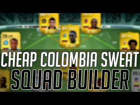 THE AFFORDABLE COLOMBIA SWEAT SQUAD (CHEAP)   FIFA 14 Ultimate Team Squad Builder (FUT 14)