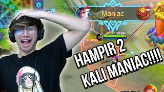 17 Kill Claude HAMPIR DUA KALI MANIAC - MOBILE LEGENDS INDONESIA