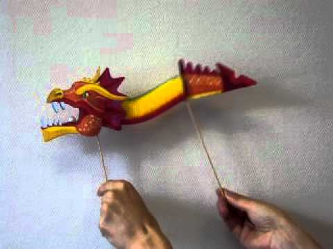 Как сделать из бумаги дракона ютуб