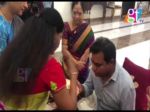 CM KCR Family Members Congratulates KTR | Harish rao | Kavitha | Camp Office | | Great Telangana TV