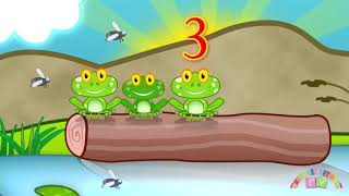 FIVE LITTLE SPECKLED FROGS   Nursery Rhymes TV  Counting song for Baby and Toddler