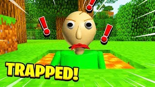 Minecraft : WE TRAPPED BALDI IN LAVA! (Ps3/Xbox360/PS4/XboxOne/PE/MCPE)