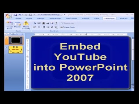 How to embed a YouTube Video into PowerPoint 2007