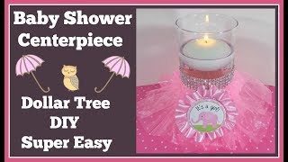 Baby Shower Centerpiece 🌸 Dollar Tree Diy Super Easy