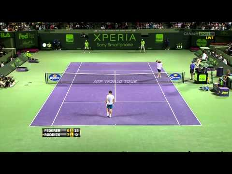 Roddick vs. Federer Miami 2012 R3 (HD)