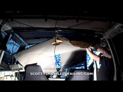 sagging car headliner repair glue fix sagging headliner repair