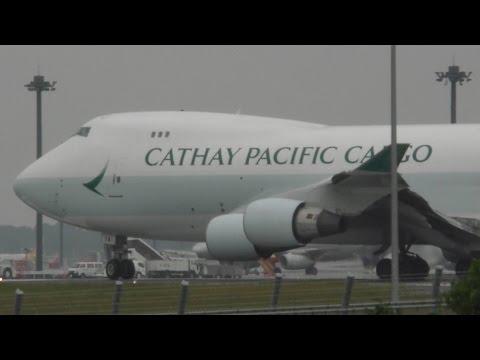✈Cathay Pacific Cargo B747 B-LIA takeoff @Narita Airport rwy34L(成田空港WX970M)