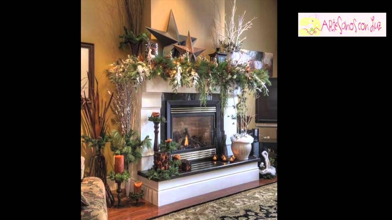 Ideas decoraci n navidad para comedor escaleras - Chimeneas decoradas para navidad ...