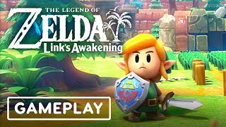 Link's Awakening Remake Gameplay: 9 Minutes of the Tail Cave Dungeon - E3 2019