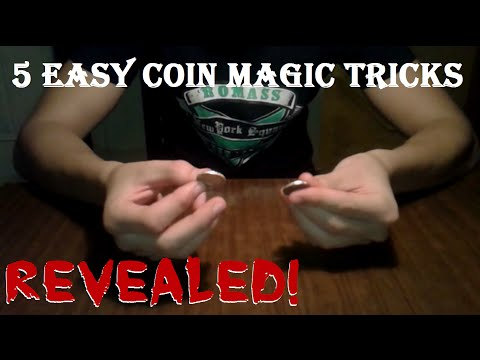 5 Cool & Easy Coin Magic Tricks! REVEALED!