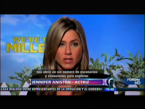 JENNIFER ANISTON HABLA DE SU NUEVA PELICULA, WE'RE THE MILLERS