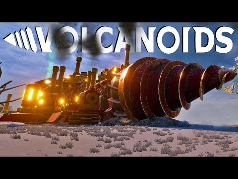 Building Giant Drill Machines To Survive Underground in a Volcanic World  - Volcanoids Gameplay Pt 1