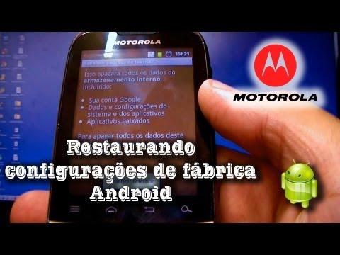 Restaurando Configurações de Fábrica do Android