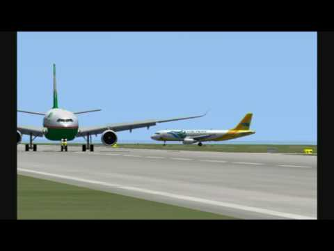 World Of AI Traffic visiting Ninoy Aquino International in Flight Simulator X.