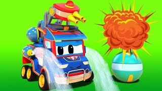 Truck videos for kids -  Super FIRETRUCK has to SAVE CHRISTMAS - Super Truck !