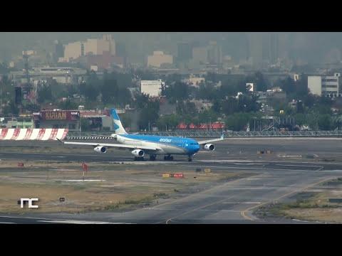 Aeronaves: Interjet - Airbus A320 AeroMexico - Boeing 737-700 AeroMexico - Boeing 737-800 AeroMexico Connect - Embraer E190 Fuerza Aérea Mexicana - Boeing 727-200 AeroUnion - Airbus A300F...